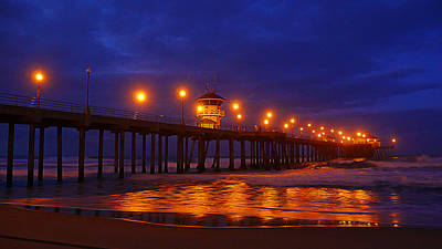 Pier Lights Poster by Ron Regalado