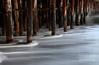 Pier Pilings Santa Cruz California 2 Poster