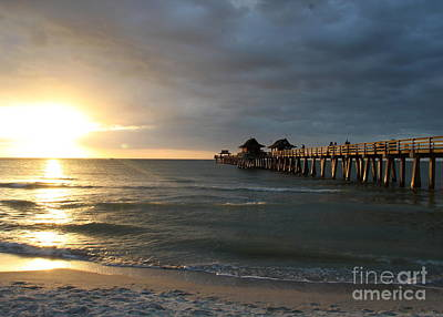Pier Sunset Naples Poster by Christiane Schulze Art And Photography