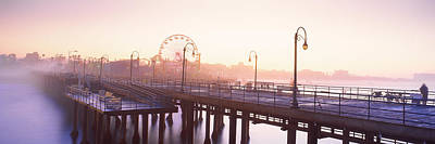 Pier With Ferris Wheel Poster by Panoramic Images