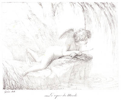 Pierre Guérin French, 1774 - 1833. Le Repos Du Monde Poster by Litz Collection