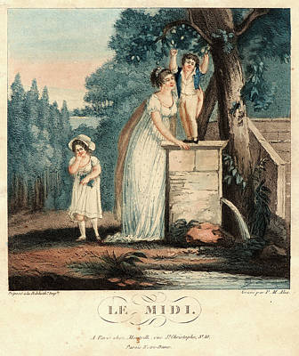 Pierre-michel Alix French, 1762 - 1817. Le Midi Poster by Litz Collection