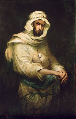Pierre Savorgnan De Brazza 1852-1905 1886 Oil On Canvas Poster