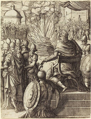 Pierre Woeiriot French, 1532 - 1599, Heraclius Sentencing Poster