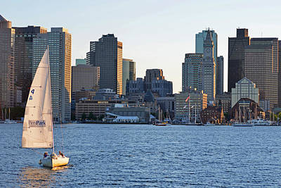 Piers Park Sailboat Poster by Toby McGuire