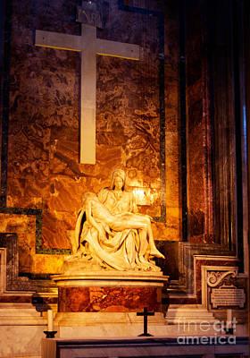 Pieta By Michelangelo Poster