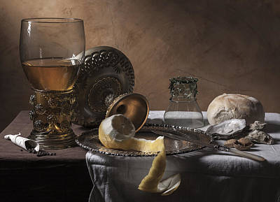 Poster featuring the photograph Pieter Claesz- Breakfast Piece by Levin Rodriguez