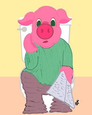 Pig On The Hopper Poster by Pharris Art