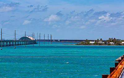 Pigeon Key And The Overseas Highway. Poster