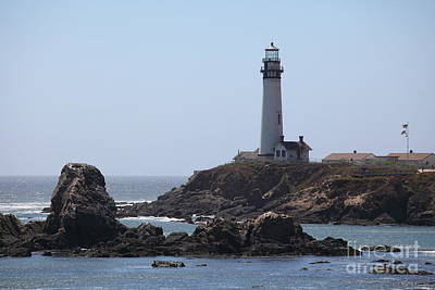 Pigeon Point Lighthouse In The Coast Of California 5d28280 Poster by Wingsdomain Art and Photography