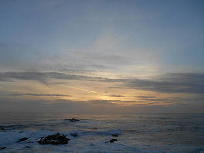 Pigeon Point Sunset Poster