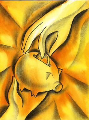 Piggy Bank Poster by Leon Zernitsky
