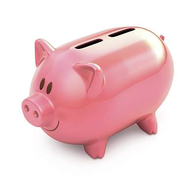 Piggy Bank With Two Slots Poster by Ktsdesign