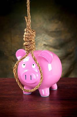 Piggybank And Noose Poster