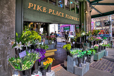 Pike Place Flowers Poster by Spencer McDonald
