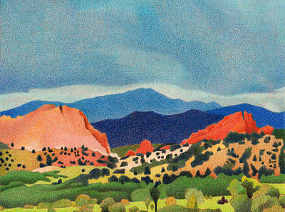 Garden Of The Gods Pikes Peak Poster