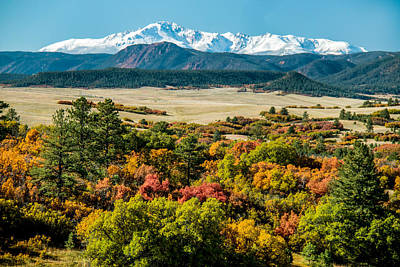 Pikes Peak Over Scrub Oak Poster