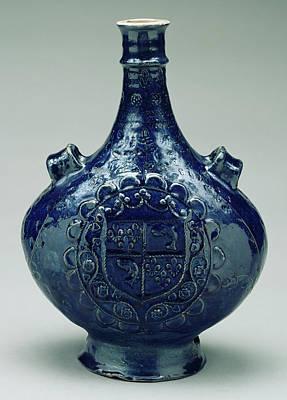Pilgrim Flask Unknown Puisaye, France, Burgundy Poster