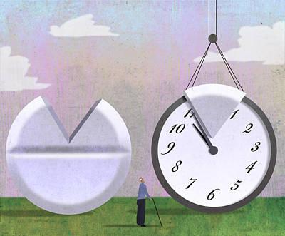 Pill Clock Poster