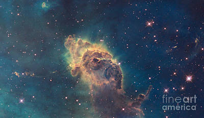 Pillar In The Carina Nebula Poster by Science Source