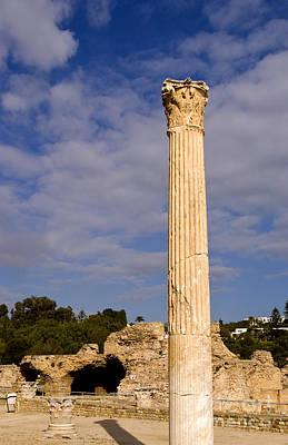 Pillar Of Carthage Tunisia Old City Poster