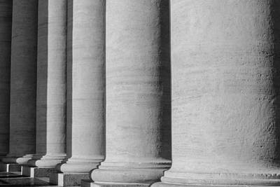 Pillars At The Vatican Poster