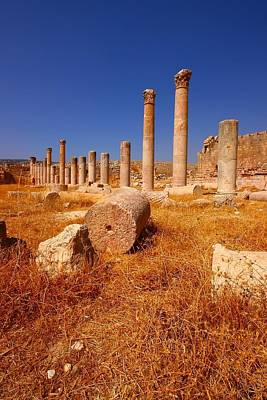Pillars Of Ruin Poster by FireFlux Studios