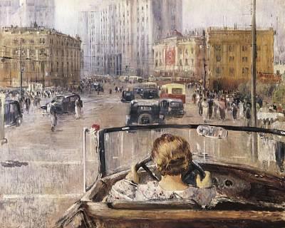 Pimenov, Yuri Ivanovich 1903-1977. The Poster by Everett