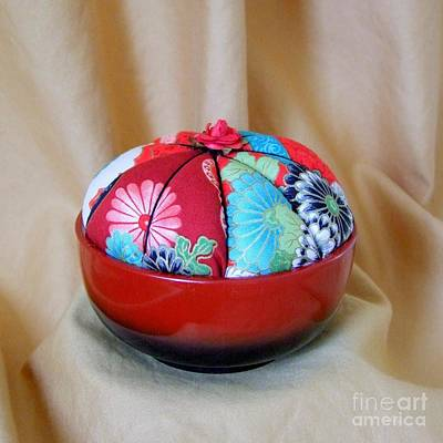 Pin Cushion With Japanese Motif Poster