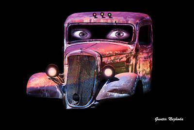 Pin Up Cars - #3 Poster by Gunter Nezhoda