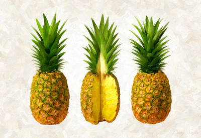 Pineapples Poster by Danny Smythe