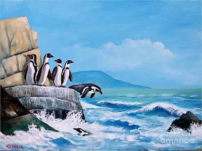 Pinguinos De Humboldt Poster