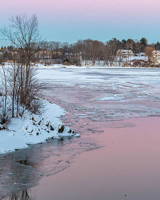 Pink And Blue Sky Tonight Poster by Stroudwater Falls Photography