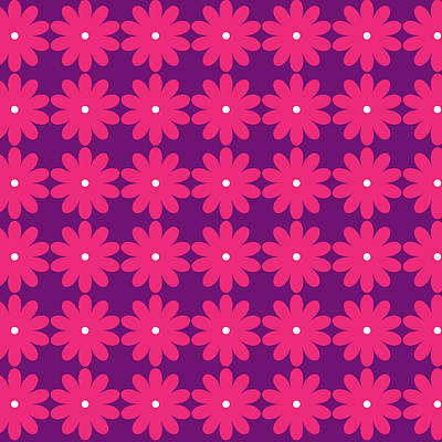 Pink And Purple Flowers Poster