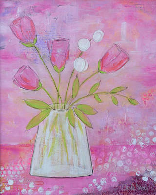 Pink And Purple Whimsy  Poster