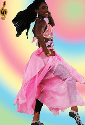 Pink Belly Dancer Poster