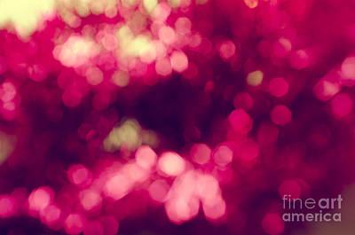 Pink Bokeh Poster by Jelena Jovanovic
