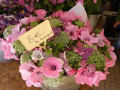 Poster featuring the photograph Pink Bouquet by Carla Parris