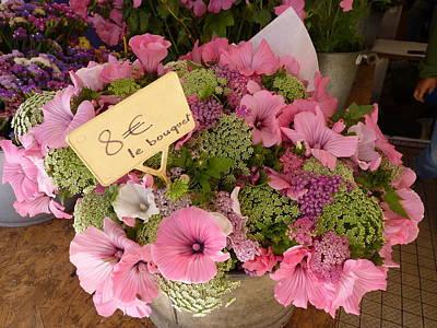 Pink Bouquet Poster by Carla Parris