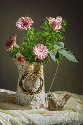 Pink Bouquet Poster by Amanda Elwell