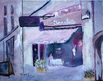 Poster featuring the painting Pink Cafe II by Aleezah Selinger