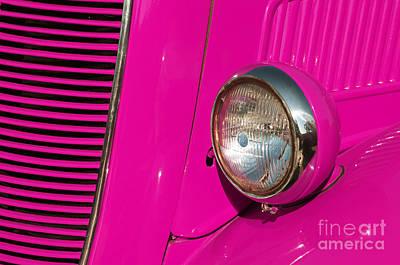 Pink Car Poster