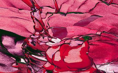 Poster featuring the digital art Pink Eyes by Matt Lindley
