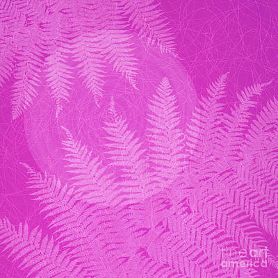 Pink Fern Pattern Poster