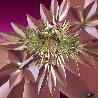 Poster featuring the digital art Pink Flowers by Melissa Messick