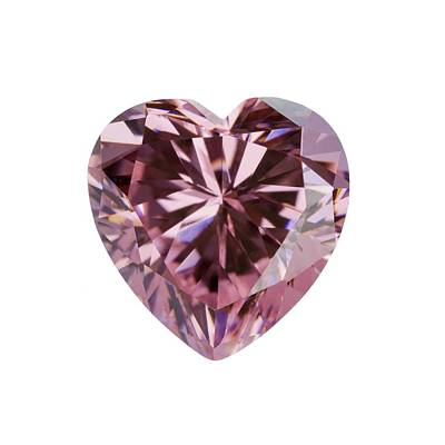 Pink Gemstone In The Shape Of Heart Poster by Science Photo Library