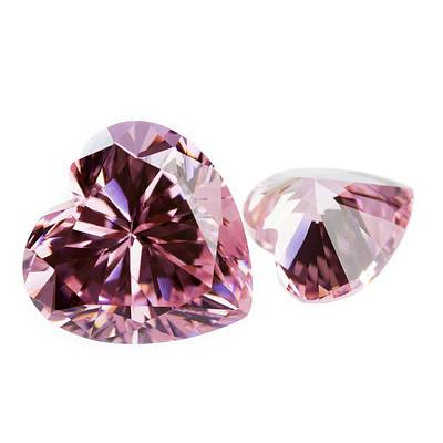 Pink Gemstones In The Shape Of Heart Poster