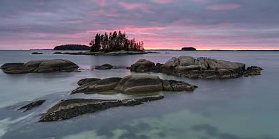 Pink Granite Glow Poster