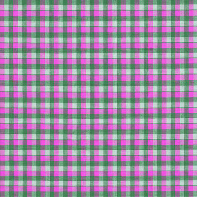 Pink Green And White Plaid Pattern Cloth Background Poster by Keith Webber Jr