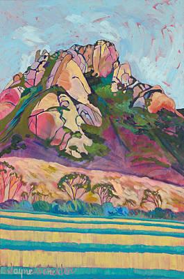 Pink Hollister Peak Poster